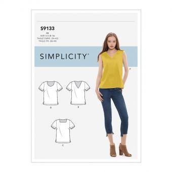 Patron Simplicity 9126 robe fillette manches raglan bouffantes et chapeau - 6 mois à 4 ans