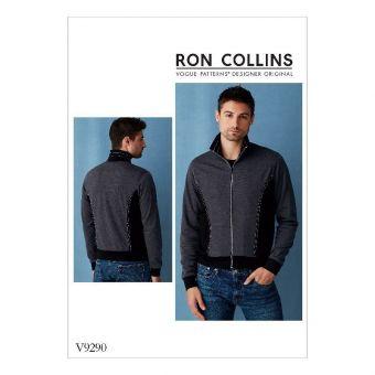 Patron Vogue 9290 Veste Bomber homme par Ron Collins - du 36 au 48