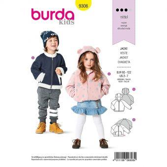 Patron Burda 9306 Blouson avec ou sans capuche de 2 à 7 ans