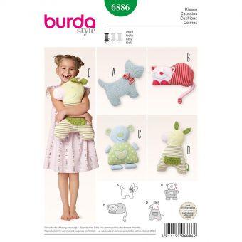 Patron Burda 6886 Coussins