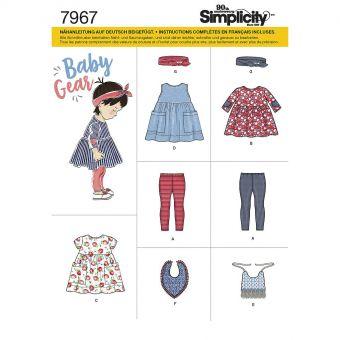 Patron Simplicity 8304 Ensemble fillette