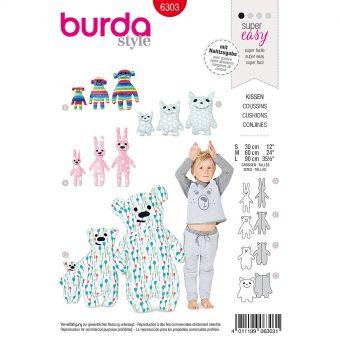 Patron Burda 6303 - Coussin pour enfants