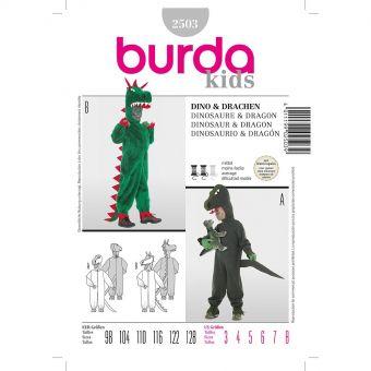 Patron Burda 2503 Carnaval Combinaison Dinosaure & Dragon