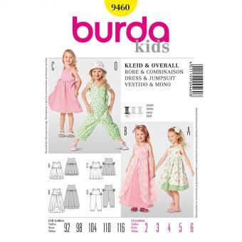 Patron Burda 9314 Grenouillère croisée pour bébés de 1 à 18 mois