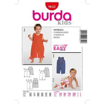 Patron Burda 9313 Robe et surjupe de 3 à 24 mois