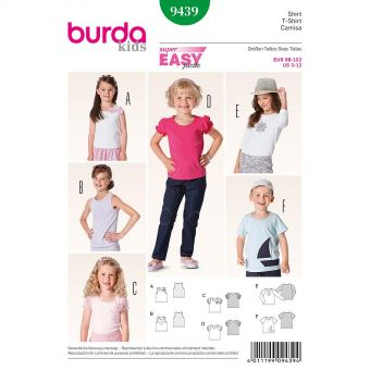 Patron Burda 9325 - Combinaison pour filles de 9 à 14 ans