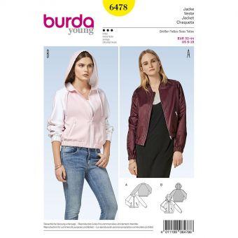 Patron Burda 6478 Veste