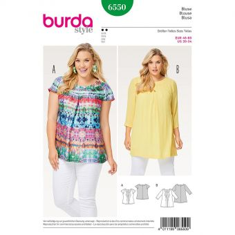 Patron Burda 6550 Blouse