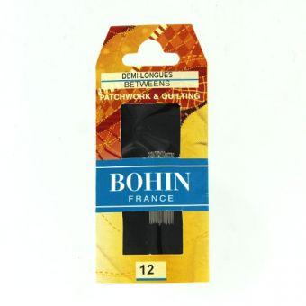 Bohin 00324 - Aiguilles à coudre demi  longues A1/2F N°12