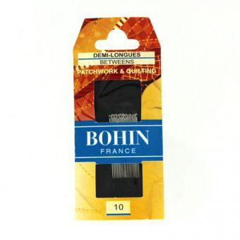 Bohin 00322 - Aiguilles à coudre demi  longues A1/2F n°10