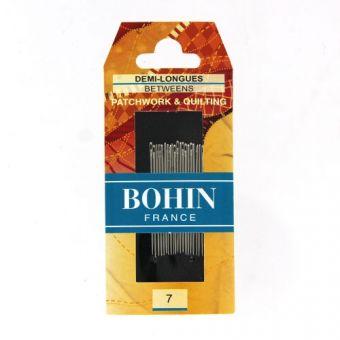 Bohin 00318 - Aiguilles à coudre demi longues A1/2F n°7