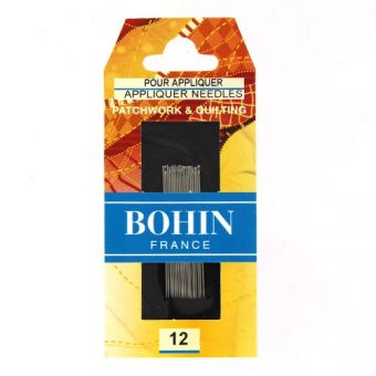 """Bohin 00228 - Aiguilles à coudre """"à appliquer"""" 1/2 longues n°12"""