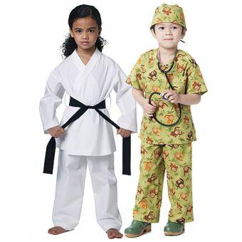 Patron McCall's 6184 déguisements de docteur et de karaté pour enfants