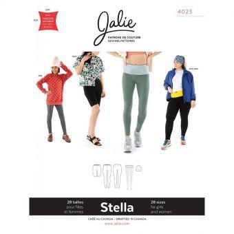 Patron Jalie 4023 STELLA - Legging, ceinture de course et tuque - Femme, fille, grandes tailles