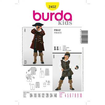 Patron Burda Carnaval 2452 - Déguisement Historique Pirate enfant