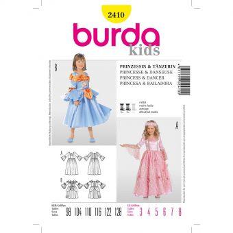 Patron Burda Carnaval 2410 - Déguisement Princesse et Danseuse enfant