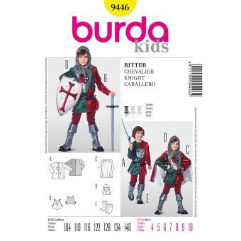 Patron Burda Carnaval 9446 - Déguisement Historique de Chevalier enfant