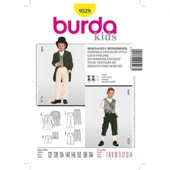Patron Burda Carnaval 9528 - Déguisement Historique Ensemble et Pantalon style Louis - Philippe enfant