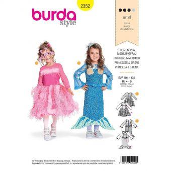 Patron Burda Carnaval 2352 - Déguisement Robe princesse et Sirène enfant