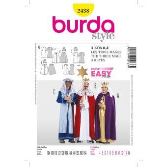 Patron Burda Carnaval 2438 - Déguisement Historique Les Rois Mages enfant