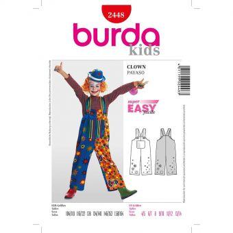 Patron Burda Carnaval 2448 - Déguisement Clown enfant