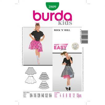 Patron Burda Carnaval 2809 - Déguisement Jupe Rock´n Roll enfant