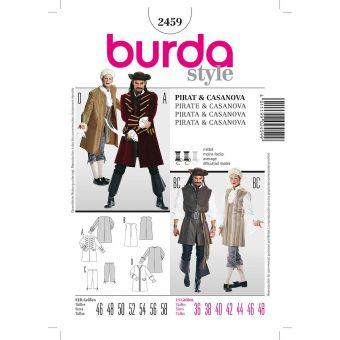 Patron Burda Carnaval 2459 - Déguisement Historique Pirate & Casanova Homme