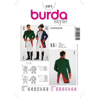 Patron Burda Carnaval 2471 - Déguisement Historique Napoléon Homme