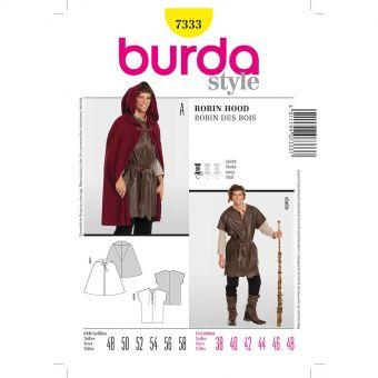 Patron Burda Carnaval 7333 - Déguisement Historique Robin des bois Homme