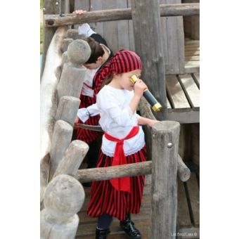 Patron Bricolises Melle Pirate : Costume Pirate fille 6 à 12 ans