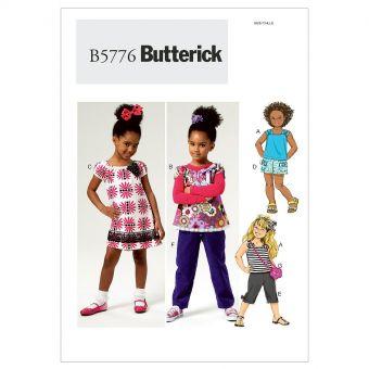 Patron Butterick 5776 Ensemble enfant, facile, tailles 2 à 5 ou 6 à 8 ans