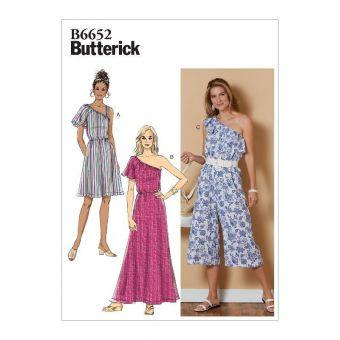 Patron Butterick 6652 Robe et combinaison femme de 32 à 50