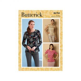 Patron Butterick 6754 Tops à fermeture en trou de serrure