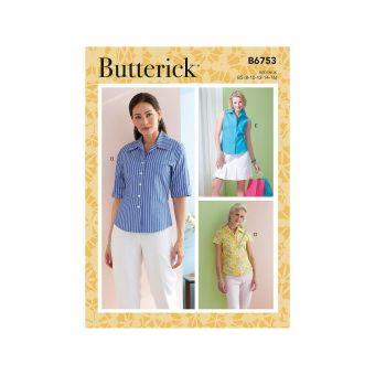Patron Butterick 6753 Chemises boutonnées