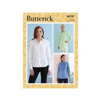 Patron Butterick 6747 Chemises à col boutonné