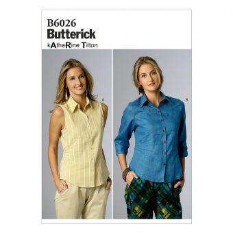 Patron Butterick 6026 Haut, tailles 36 à 44 et 44 à 52