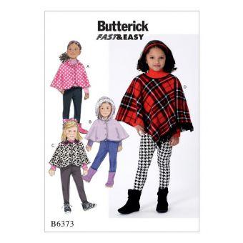 Patron Butterick 6373 Cape et poncho 2 à 8 ans
