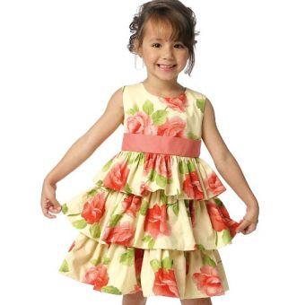 Patron Butterick 6161 Robes enfants, tailles 2 à 5 ans et 6 à 8 ans