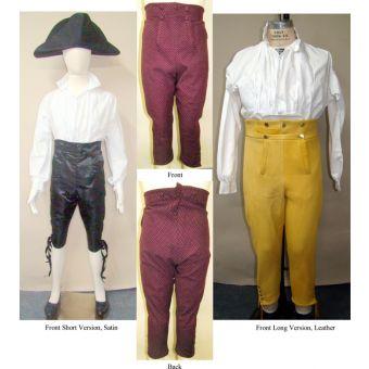 Patron Laughing Moon 127 Pantalons hauts - de - chausses hommes - 1790 - 1820 - du 36 au 64