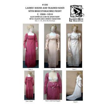 Patron Laughing Moon 126 Robes de cour 1800 à 1810 - du 32 au 64