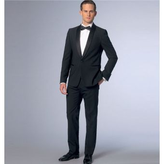 Patron Vogue 9097 Costume homme Veste col châle à un bouton et pantalon - du 36 au 48