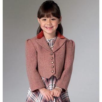 Patron Vogue 9142 Veste pour enfants tailles 3 à 6 ans et 6 à 8 ans