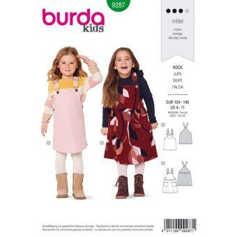 Patron Burda 9287 Robe salopette robe à bretelles - de 4 à 11 ans