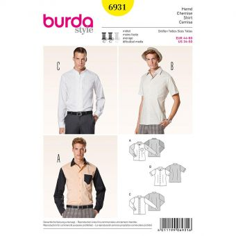 Patron Burda 6931 Chemise