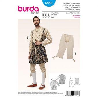 Patron Burda Carnaval 6888 - Déguisement Historique Renaissance anglaise Homme