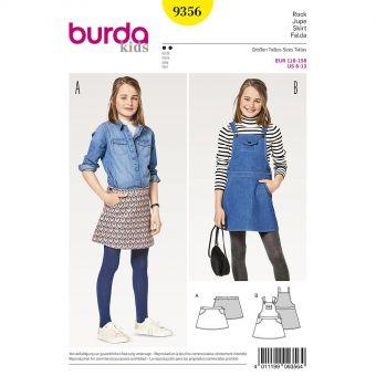 Patron Burda Kids 9356 Jupe et salopette