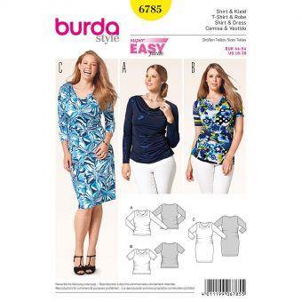 Patron Burda 6785 Tee-Shirt et robe