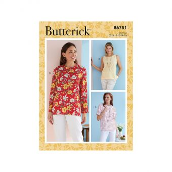 Patron Butterick 6751 Pulls et Tops