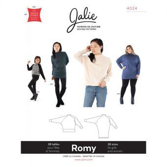 Patron Jalie 4024 ROMY - Pull et Tunique  ample en tricot - Femme, fille, grandes tailles