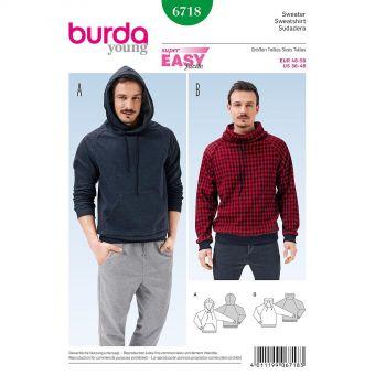 Patron Burda 6718 Sweatshirt